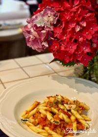 『イタリア発!茹でダコと野菜ラグーの本格トマトパスタ』