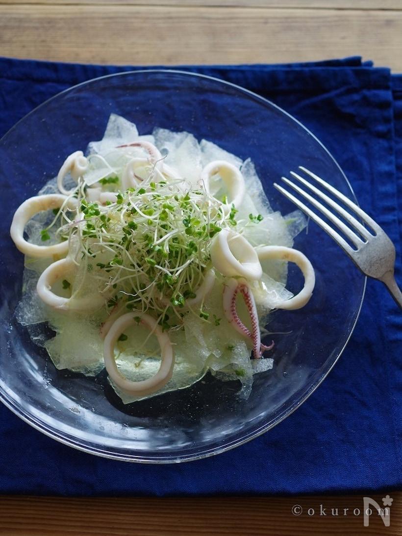 冬瓜とイカのサラダ