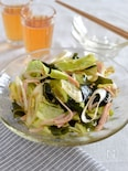 春キャベツの中華サラダ。ポン酢とごま油の簡単ドレッシングで♪