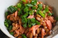 朝食にももう一品にも。鮭納豆