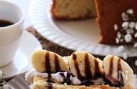 天ぷら粉でふんわり美味しい♡はちみつとバナナのシフォンケーキ