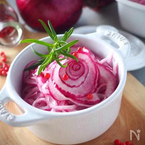 きれいな色に染まります*紫たまねぎのマリネ#作り置き#お弁当