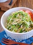 抱えて食べたい♪『水菜ともやしとツナのごまマヨサラダ』