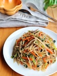 しらたきと根菜と小松菜のさっぱり炒め