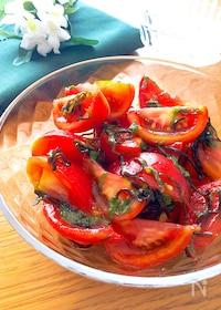 『さっぱりして夏にぴったり♡甘さが際立つトマトサラダ』
