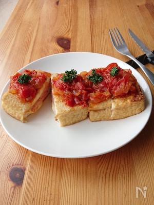 厚揚げの完熟トマトステーキ