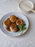 照り焼きたれの豆腐ハンバーグ。