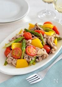 『豚肉と野菜のレモン炒め。さっぱりとした洋風メインおかず♪』