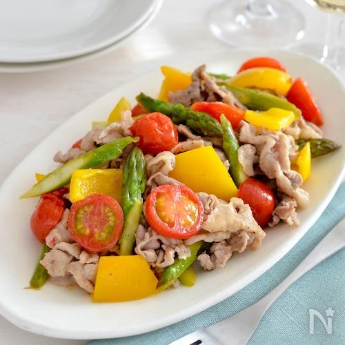豚肉と野菜のレモン炒め。さっぱりとした洋風メインおかず♪