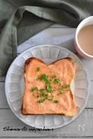 サワークリームと明太子のトースト