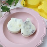 卵不使用☆レンジで作るレーズンとクリームチーズの米粉蒸しパン