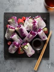 きゅうりと紫キャベツの生春巻き