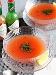 すりおろしトマトの冷製スープ