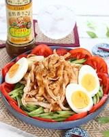 これ1つで味が決まる!焙煎香りごまで!鶏むね肉の棒々鶏サラダ