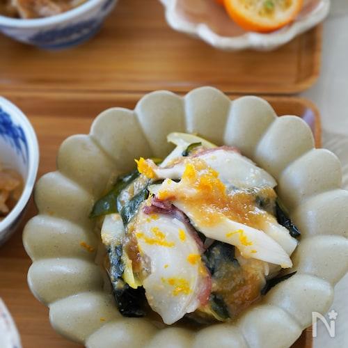 【覚えておきたい和の副菜】タコ(イカ)と長ねぎの酢味噌和え