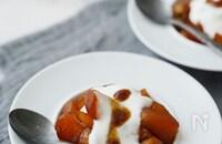 レンジで仕上げるバニラ香る『タルトタタン』(一部フライパン)