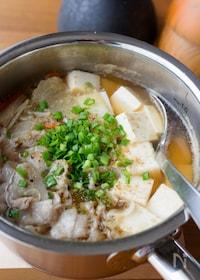 『具だくさん!『白菜と豚肉と豆腐のピリ辛中華風スープ』』