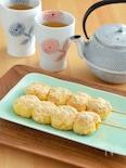 コーンのきな粉もち。とうもろこしと白玉粉で。野菜のおやつ!