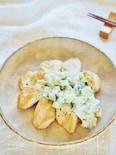 サクサク胡瓜と玉ねぎのタルタルソースと鶏胸肉ソテー
