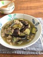 うどんスープで簡単♪なすのそぼろ煮