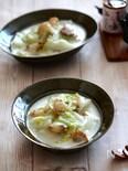 白菜とホタテの中華クリーム煮。