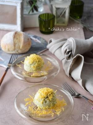 サツマイモとミモレットのデザートサラダ
