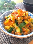 簡単でめっちゃ美味しい♡きゅうりとキムチと納豆のおつまみ