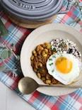 低糖質で低カロリー♪雑穀豆腐そぼろごはん&豆ときのこのカレー