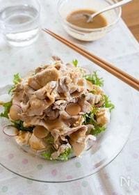 『わさび菜と豆腐の豚しゃぶサラダ』
