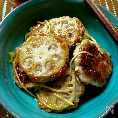 ご飯がすすむレンコン豚肉餅の旨味噌煮