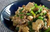 ご飯が進む!小ねぎと豚肉の炒り豆腐