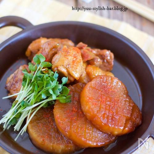 失敗なし!煮物の基本テクニック『鶏肉と大根のコッテリ甘辛煮』