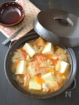 鶏肉と豆腐のキムチーズ鍋