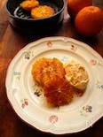 【スキレット】カラメルオレンジのバニラアイス添え