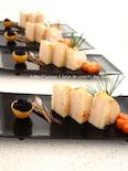 筍の豆腐海老はさみ揚げ