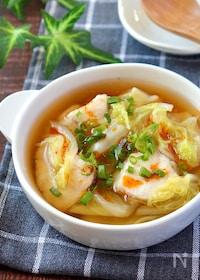 『体ぽかぽか♡鶏むね肉の白菜ピリ辛とろみジンジャースープ』