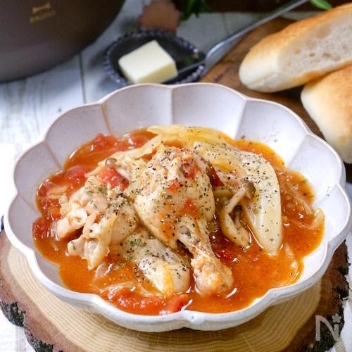疲れて帰った日の『鶏手羽とキャベツの食べるトマトスープ』