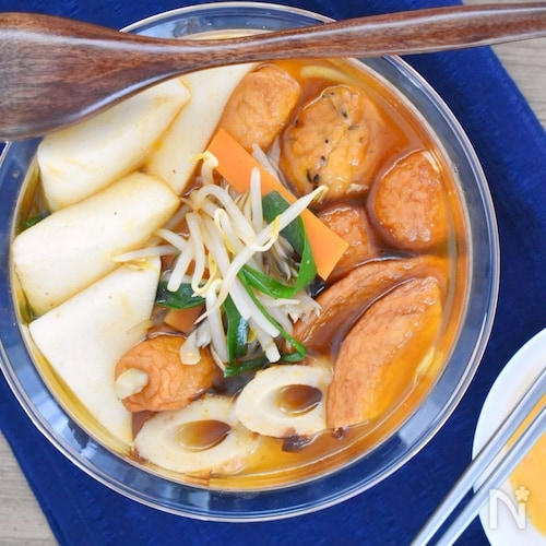 野菜たっぷり!韓国風うま辛チゲおでん