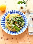 しらすと小松菜のレモン醤油ペペロンチーノ