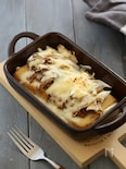 厚揚げと舞茸の納豆チーズ焼き
