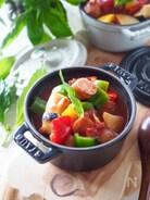 超簡単スープ!レンチンミネストローネ*レンジだけです。