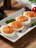 卵の味を存分に味わう★『生たらこデビルエッグ』