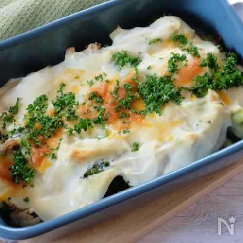 冬野菜の豆腐クリームグラタン