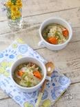 鶏ひき肉と野菜の食べるスープ