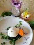 ハーブ香る春野菜のポーチドエッグ