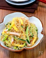 【きゅうりとハムの中華春雨サラダ】味染み染みレンジで簡単♬︎