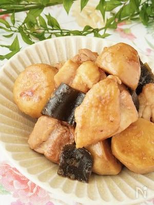 季節を楽しむ旬ごはん✿昆布だしが効いた里芋と鶏もも肉の煮物