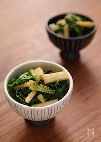 『わさび菜と山芋の醤油漬け』