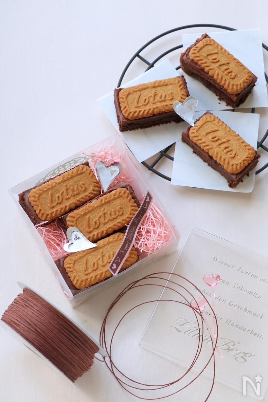 ビスケット生チョコケーキ