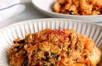 豚肉とキムチのビビンバ風チャーハン